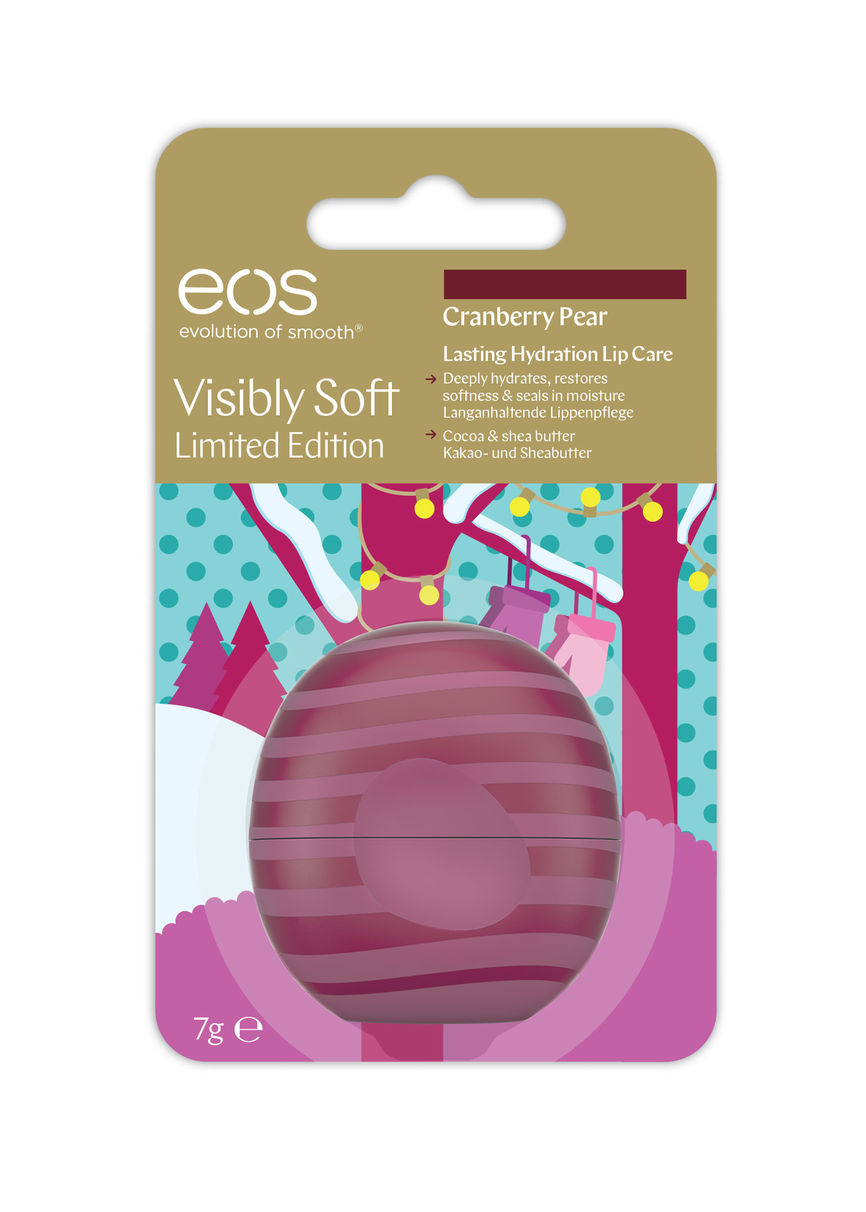 Eos holiday limited edition soft cranberry and pear