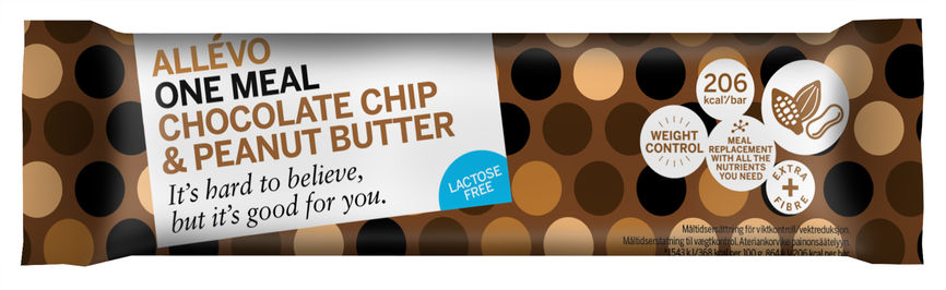 Allevo One Meal bar chocolate chip and peanut butter